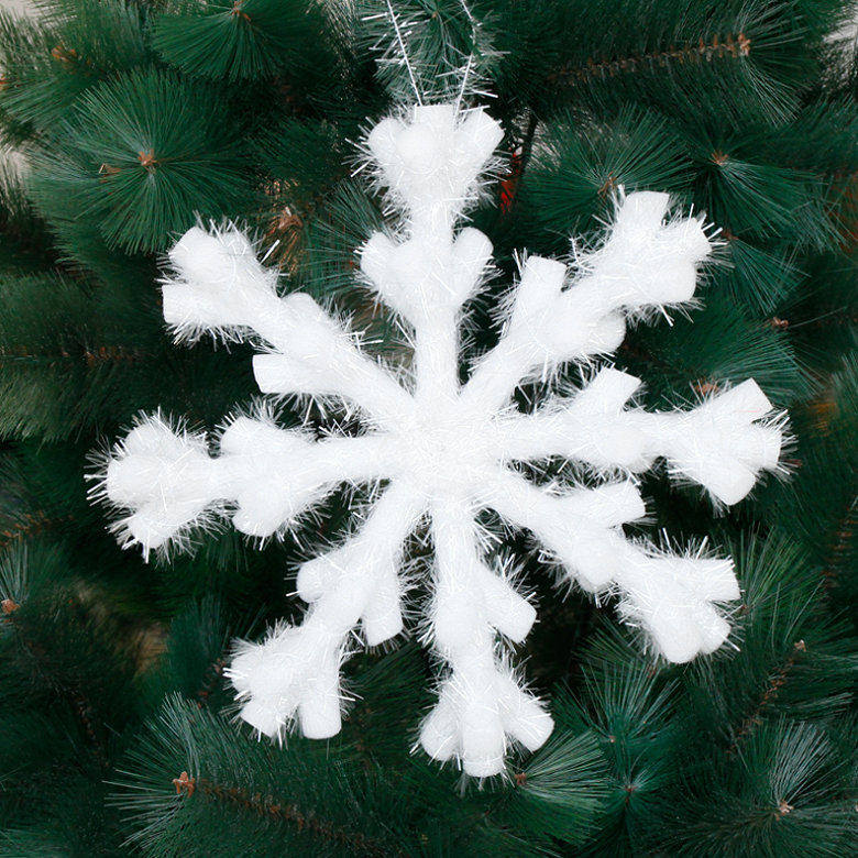 Eight three-dimensional snowflake snowflake snowflake christmas decoration snowflake window decoration snowflake pendant ornaments ceiling decoration