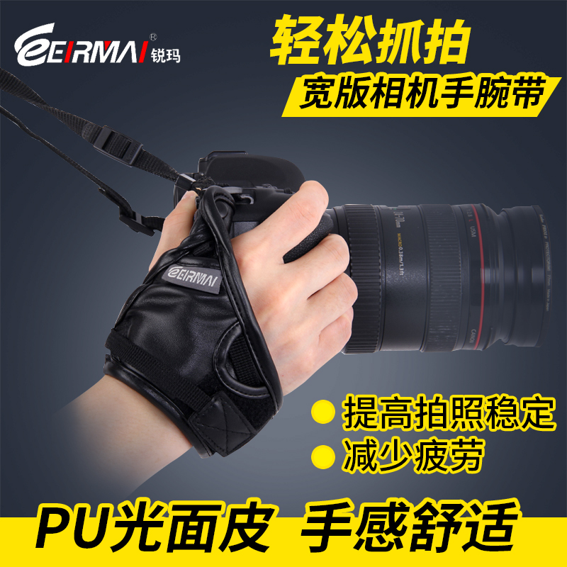 Eirmai rhema camera wrist strap canon nikon pentax sony micro slr camera wrist strap leather accessories