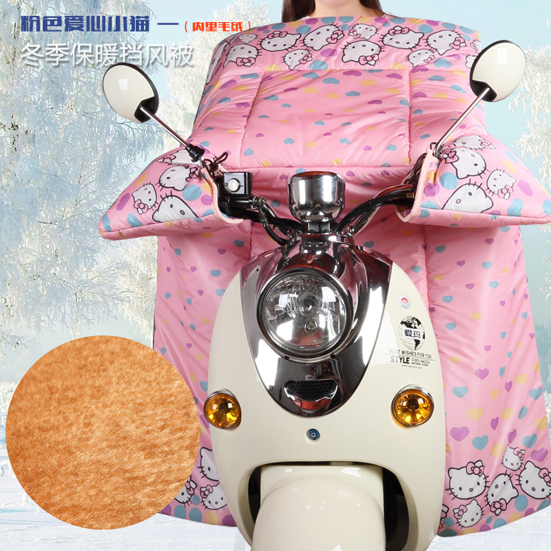 Electric car windshield was winter ao trishaw new plus thick velvet waterproof windproof car battery knee siamese female