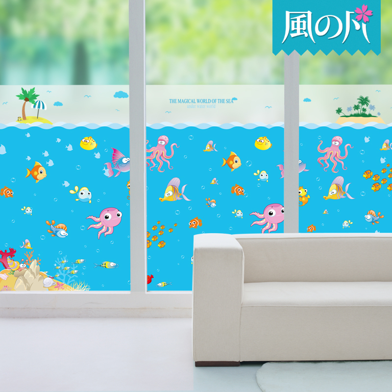 Electrostatic stickers translucent opaque frosted glass bathroom door stickers window glass insulation film sunscreen film barrier