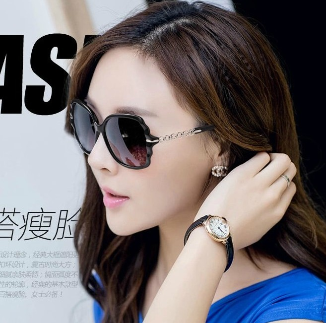 Elegant ladies new fashion sunglasses retro fashion sunglasses female big frame sunglasses female influx of myopia