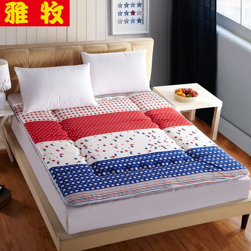 Elegant pastoral single or double thick mattress tatami mattress sponge mattress pad is student dormitory bed 1.5m1.8 m