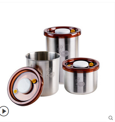 Elsevier get double vacuum stainless steel milk cans sealed cans storage tank storage tank canisters loaded single