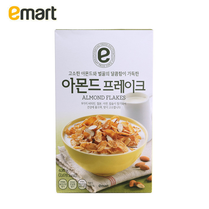 Emart easy to buy south korean imports of sweet almond nutritious breakfast cereal 630g natural baked not fried