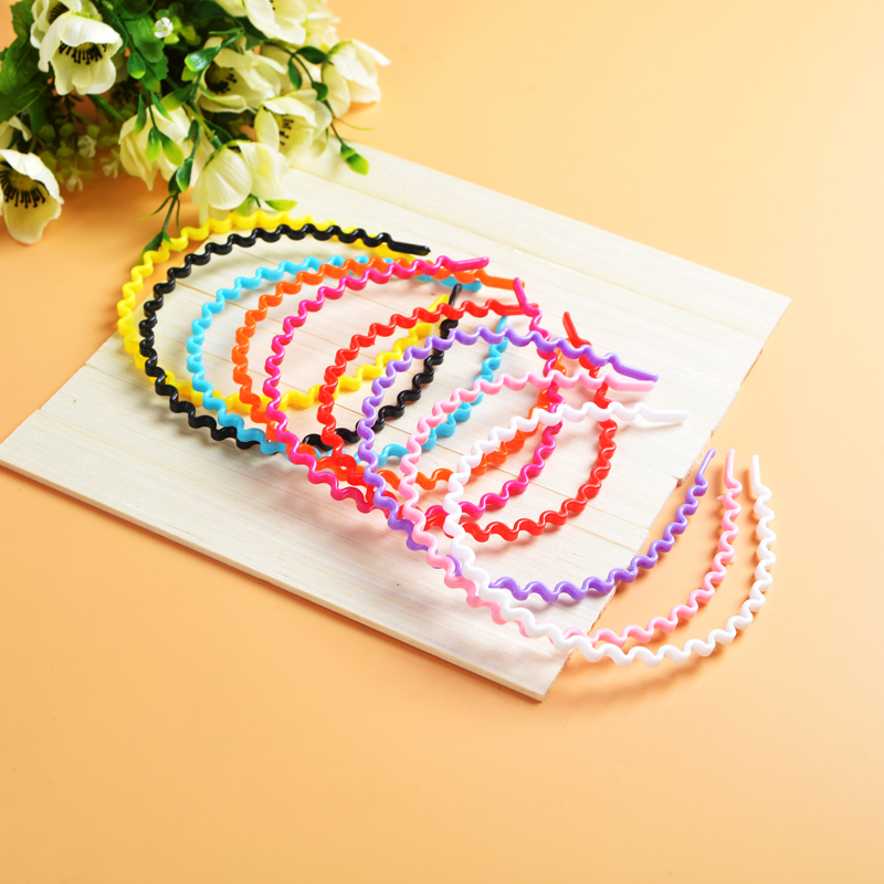 Emi korean instant noodles wavy hair hoop headband headdress candy colored hair bands face