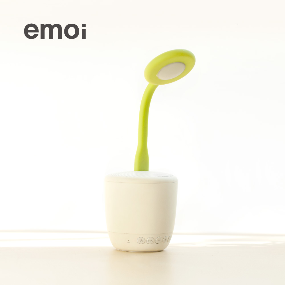 Emoi basic intelligent lamp creative stereo flower saplings portable car stereo wireless bluetooth speaker