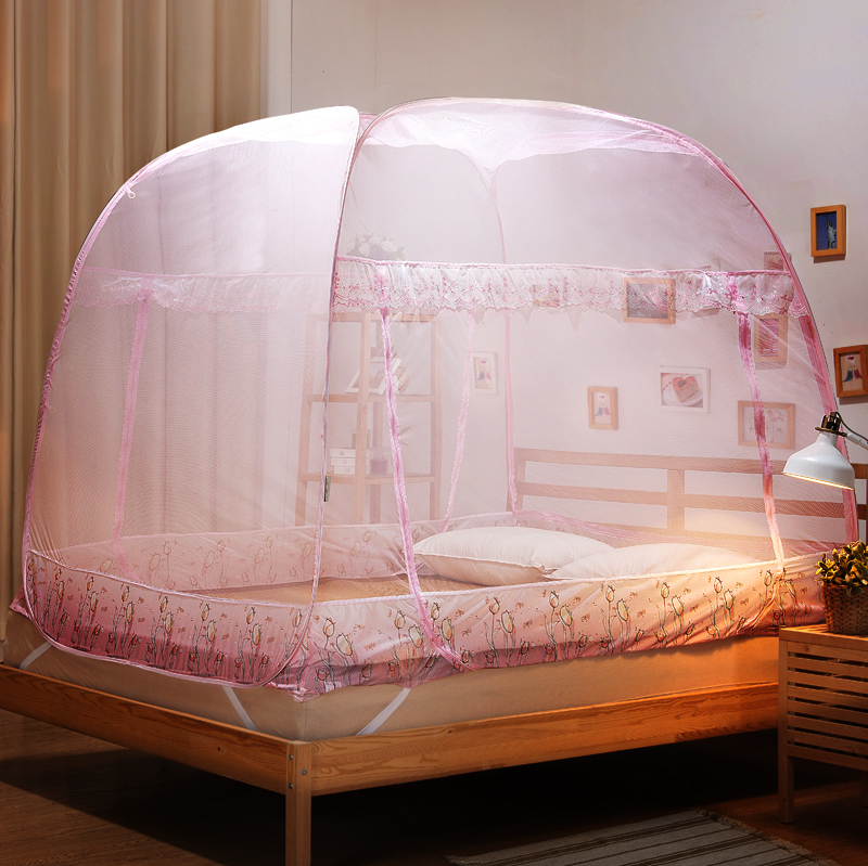 Emperor and square top three door mosquito nets yurt student 1.2 m bed free installation 1. m Double household