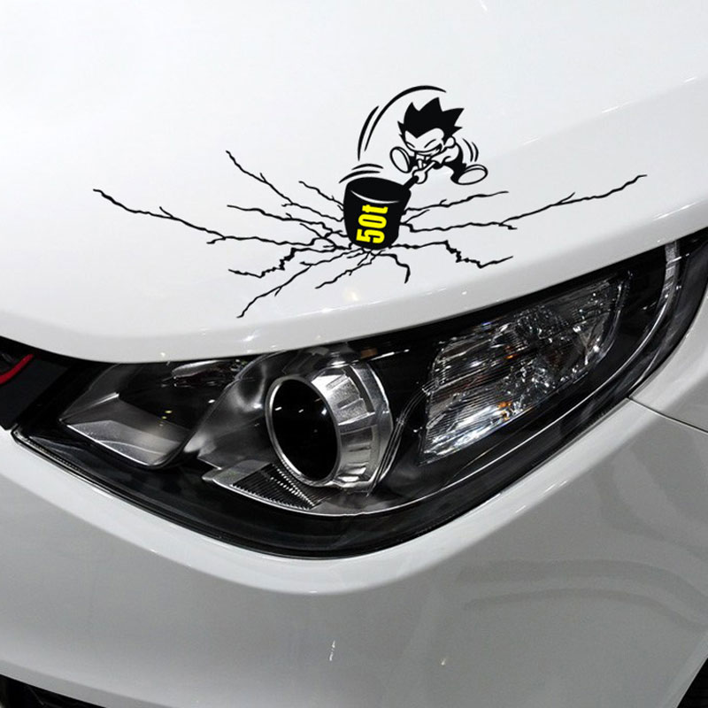 Emperor figure car stickers scratches rift sledgehammer car and motorcycle reflective car stickers personalized car stickers