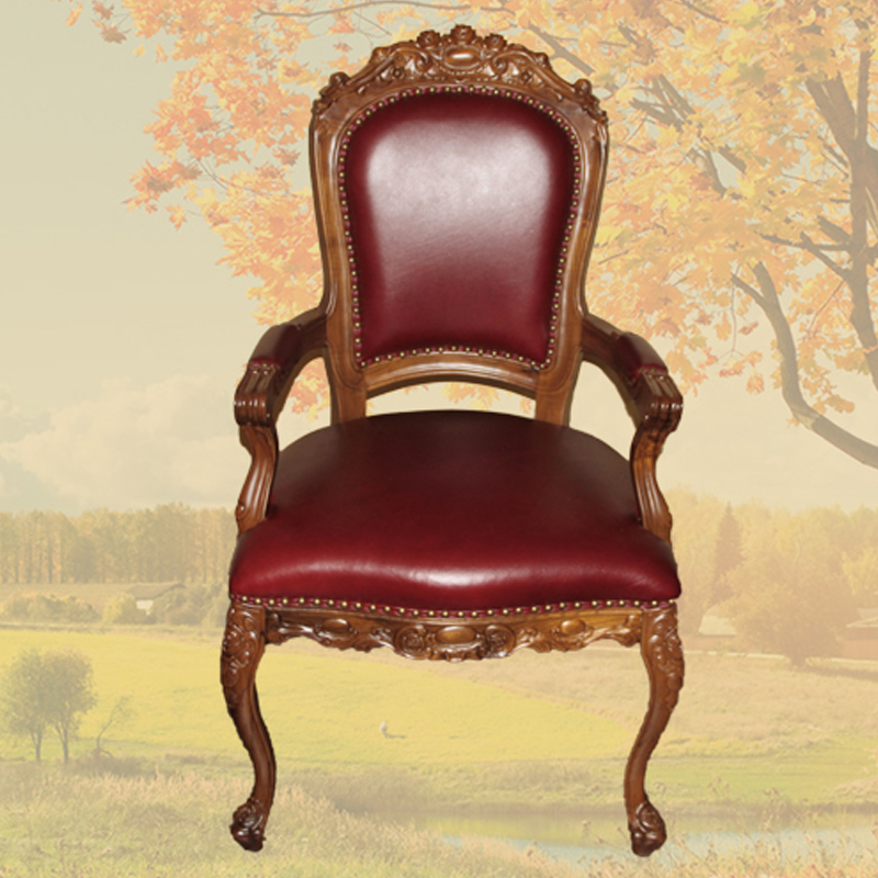 Get Ations Emperor Pomelo Louis Fourteen Armrest Old Teak Dining Chairs Continental Furniture Leather Room