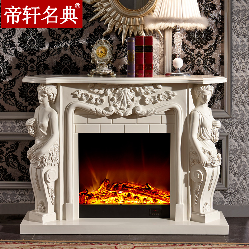Emperor xuan code 1.3 m solid wood american continental fireplace decoration cabinet fireplace mantel simulation charcoal flame led stoves