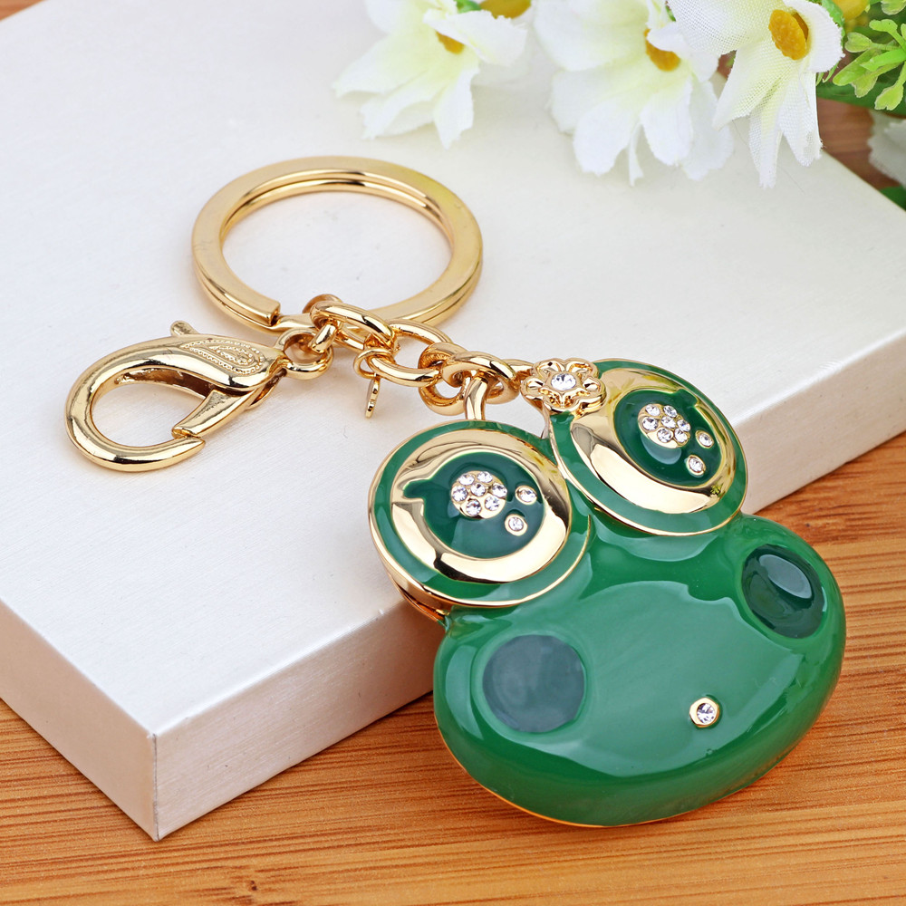 Enchantment still korean female couple keychain car key car key ring chain frog pendant bag hanging ornaments creative gifts
