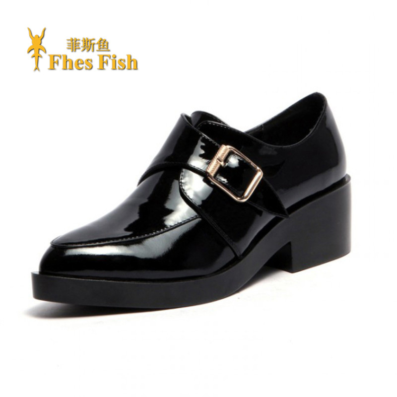 End custom brand fhesfish 2016 new spring and summer to help low shoes deep mouth pointed in with a solid color shoes