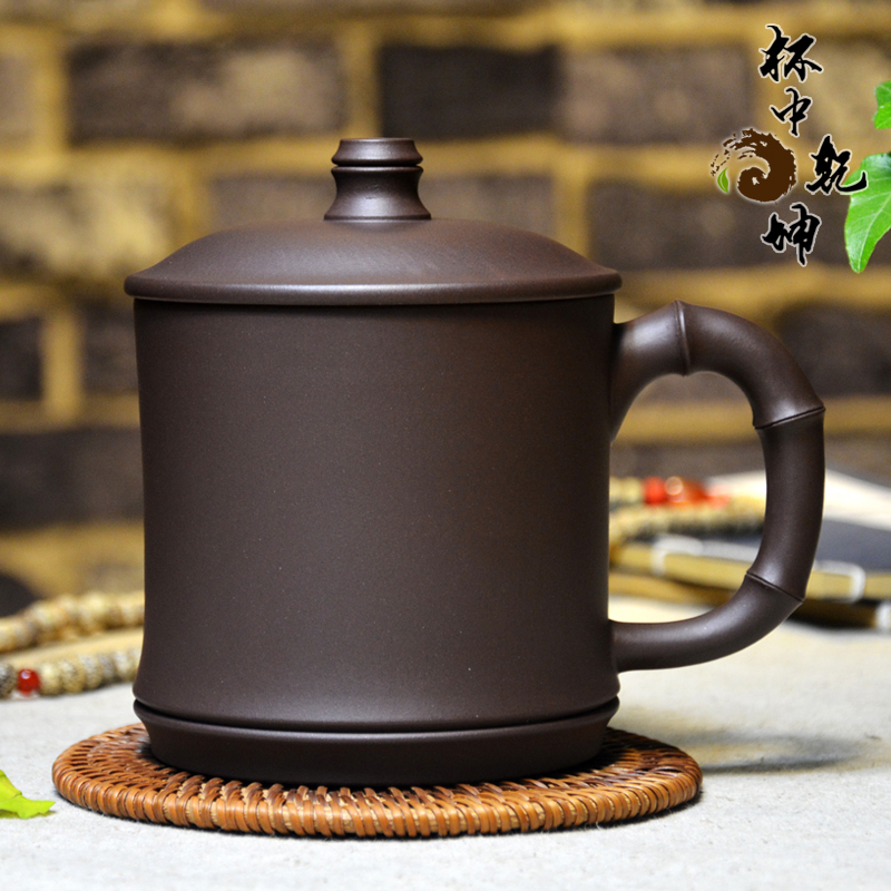 End! large tea cup full of famous boutique handmade yixing purple clay ore old purple bamboo cup collection level