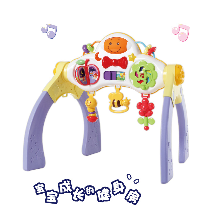 English fun infant toys for children newborn baby music fitness fitness frame is early teaching 0-1-year-old thanmonolingualsat 0802