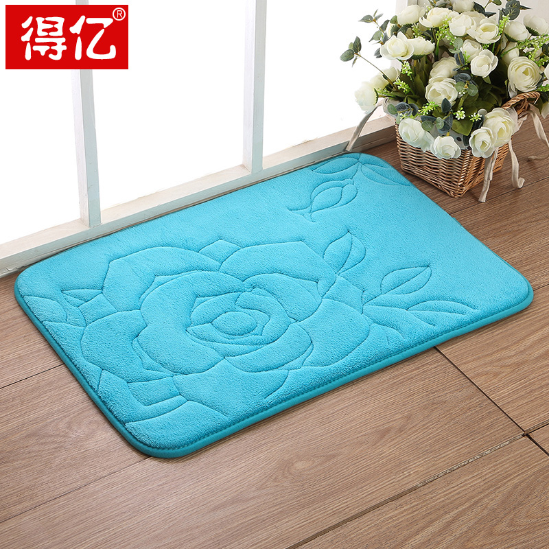 Environmental protection mat slow rebound memory foam absorbent mats bedroom floor mats bathroom toilet room door mat slip