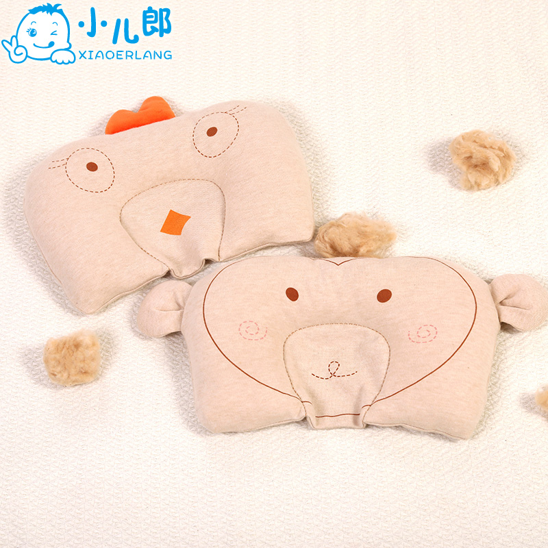 Erlang small baby cotton meng ji stereotypes pillow newborn baby pillow cotton pillow headrest pillow newborn child to correct migraine prevention