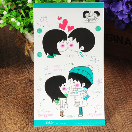 Essential korean couple diy handmade album stickers decorative stickers cute stickers affixed romantic accessories