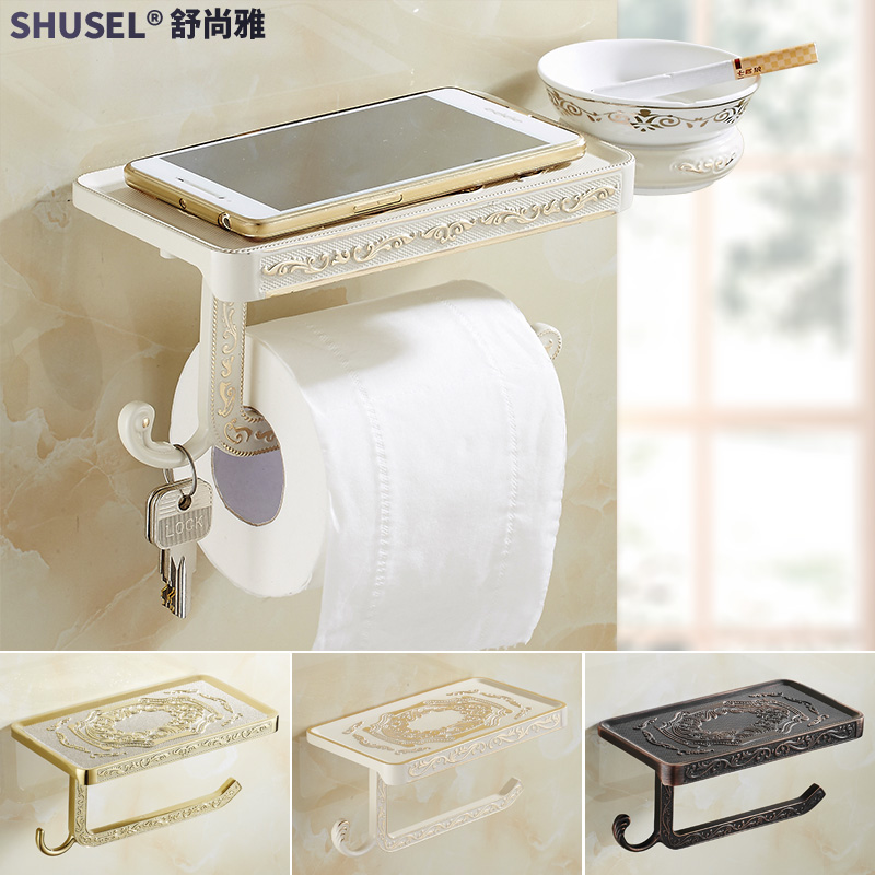 Euclidian multifunction antique toilet paper holder toilet roll holder stainless steel gold toilet paper holder paper towel box zinc alloy mobile phone Aircraft