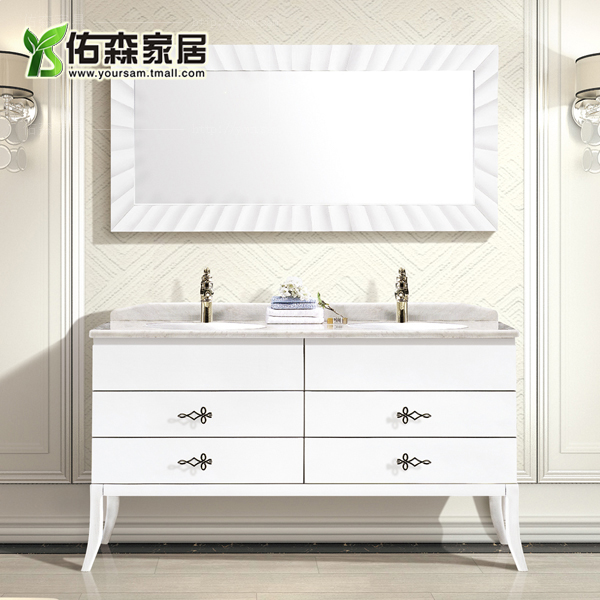 European and american solid wood bathroom cabinet bathroom cabinet natural marble wts new classical bathroom cabinet bathroom cabinets bathroom furniture
