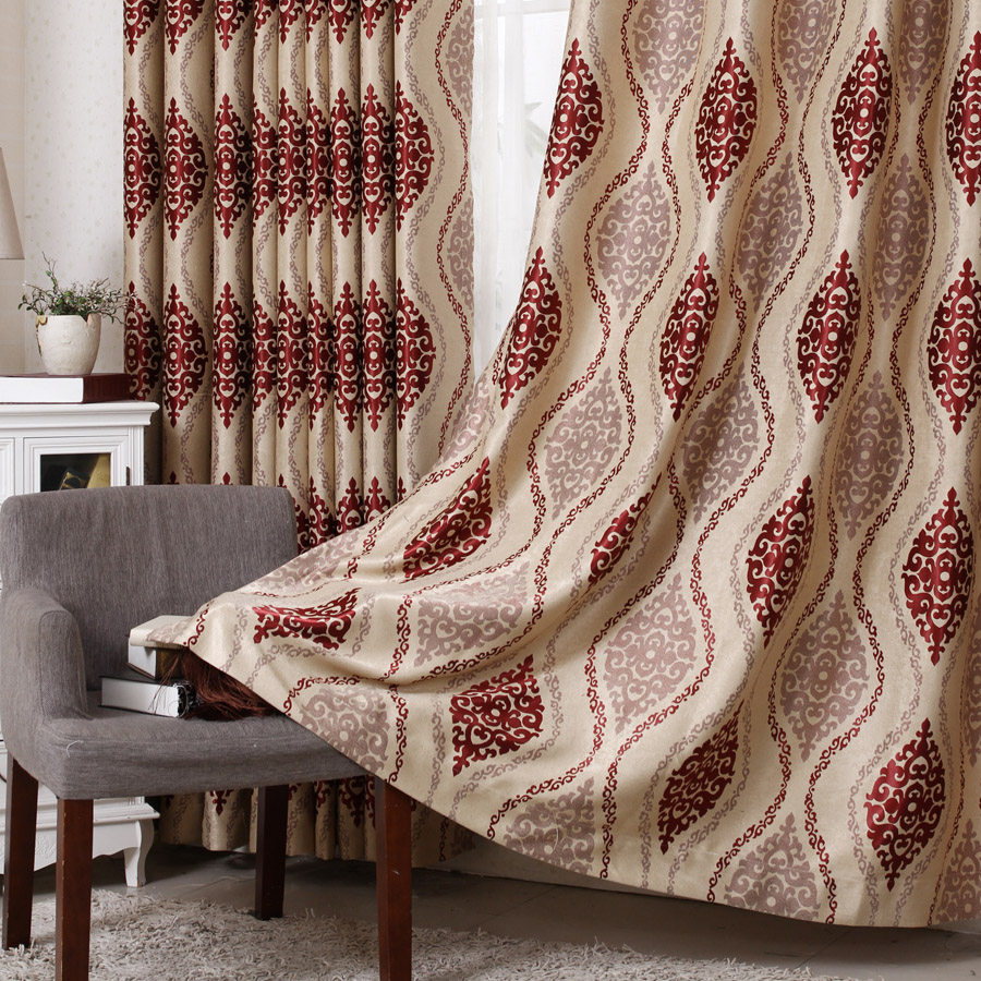 European blackout curtains living room luxury jacquard embroidery jacquard blackout curtains bedroom curtains finished floor to ceiling curtains