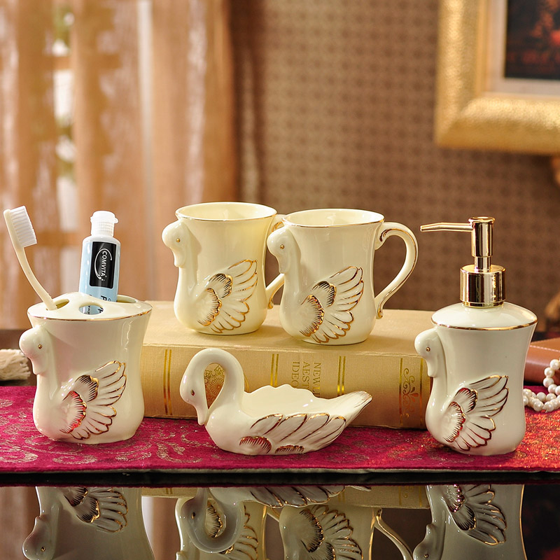 European ceramic sanitary wujiantao toiletries kit cups bathroom suite bathroom supplies wedding wedding gifts