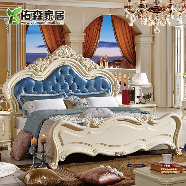 European classical solid wood furniture french palace classical wood furniture continental carved wood bedroom furniture