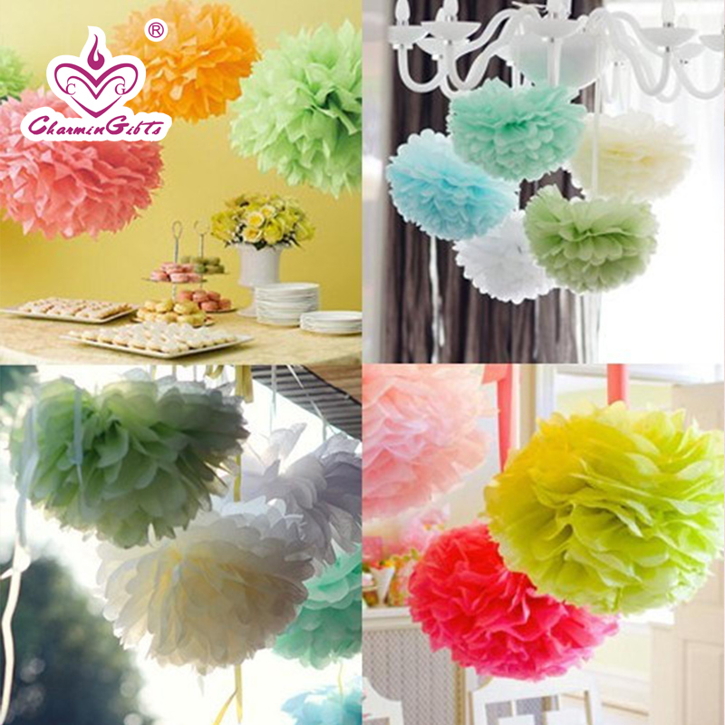 European diy handmade colored garland wedding new home decorative paper flower ball birthday party activities arranged for children