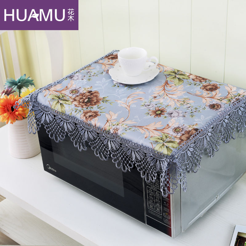 European flowers pastoral cloth dust cover microwave hood microwave convection oven oilproof dust cover cloth cover towel