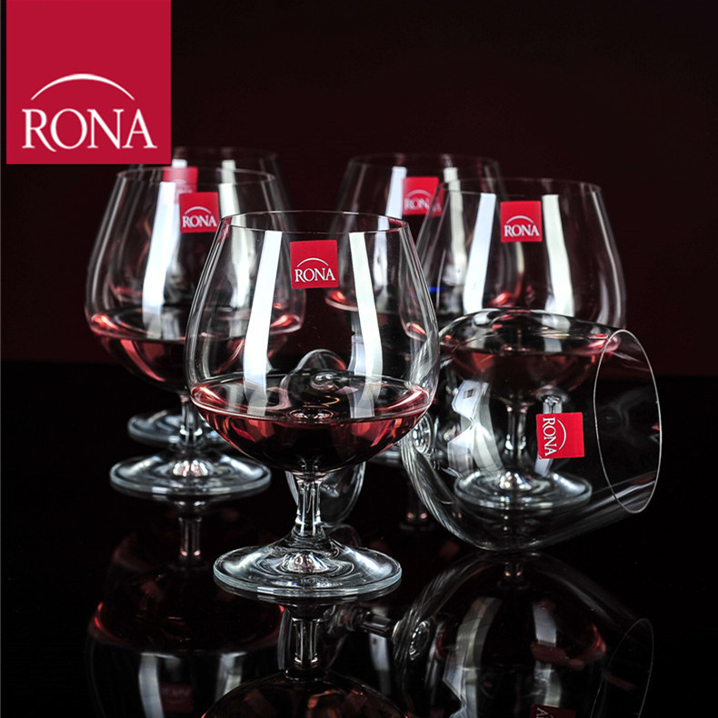 European imports of czech rona unleaded crystal glass tall wine glass cup cognac brandy wine glass