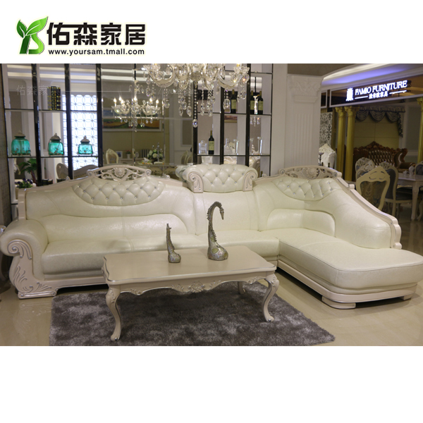 Get Quotations European Leather Corner Sofa Combination Living Room Chaise American Sculpture
