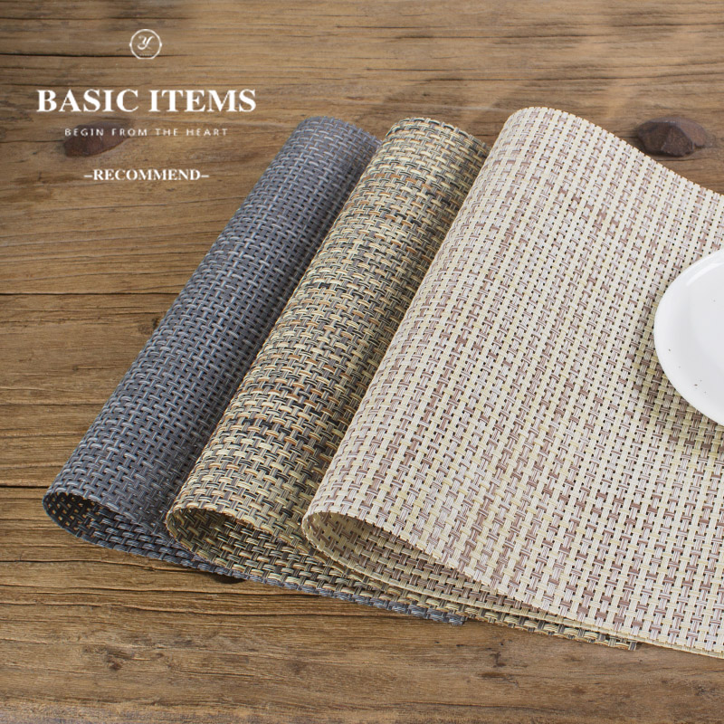 European minimalist style linen slip placemats placemats western mat pvc insulation table mat can be washed green table linen