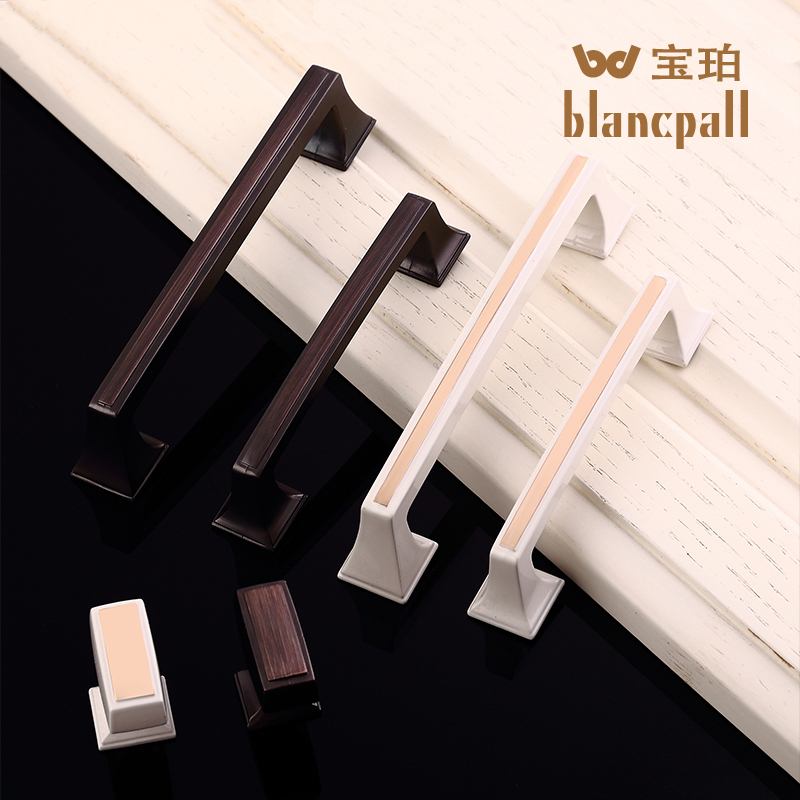 European modern minimalist wardrobe door drawer ivory handle european red bronze antique wardrobe door handle small handle