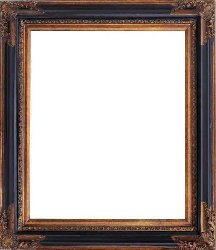 European painting wood frame black frame corner flower specifications width 3cm cm thickness 5.2 cm