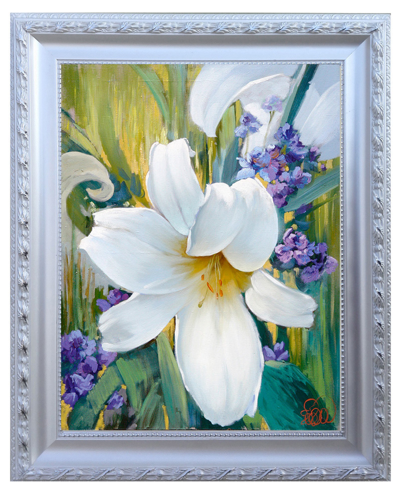 European painting wood frame color multiple choice 30*40 cm 50*60 cm size can be customized