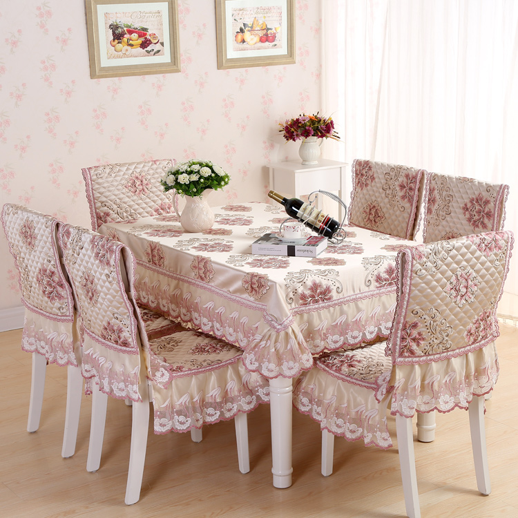 European pastoral cloth table cloth tablecloth round tablecloth fabric tablecloth tea table cloth dining chair sets of suits zhuo dining chair cushion mat