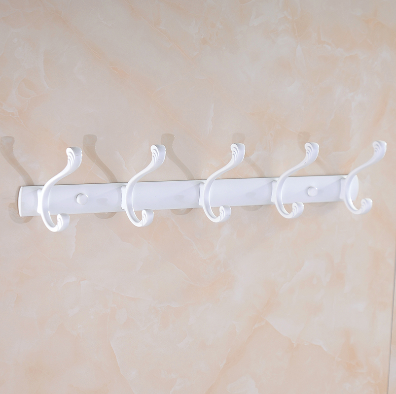European pastoral grilled white paint coat hook for hanging clothes hook row hook coat hooks european creative bathroom wall hooks