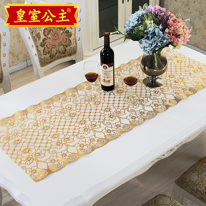 European pvc gilt tablecloth tv cabinet dresser nightstand cover coffee table mat table runner mat fabric cloth cover custom