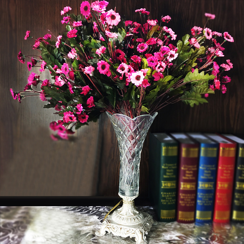 European retro glass vase ornaments home accessories simulation flower suit sample room decoration wedding gift new home