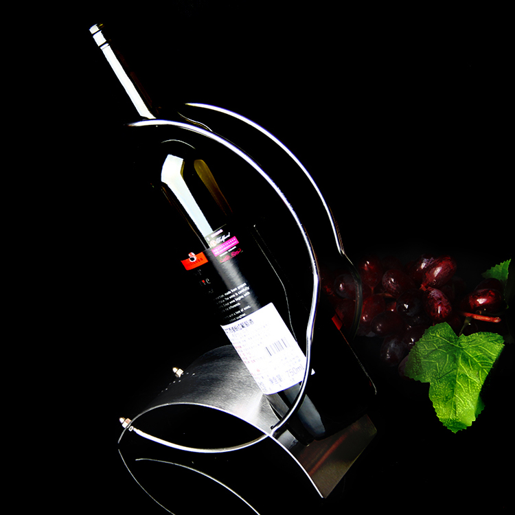 European stainless steel wine rack wine rack creative home decorations simple wine rack wine rack table