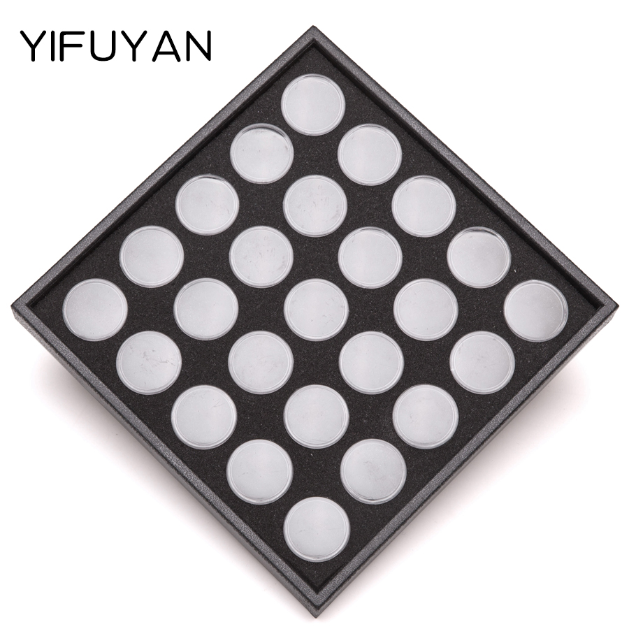 Eve yan nail tools 25 grid upscale upscale nail jewelry storage box small jewelry box empty black box