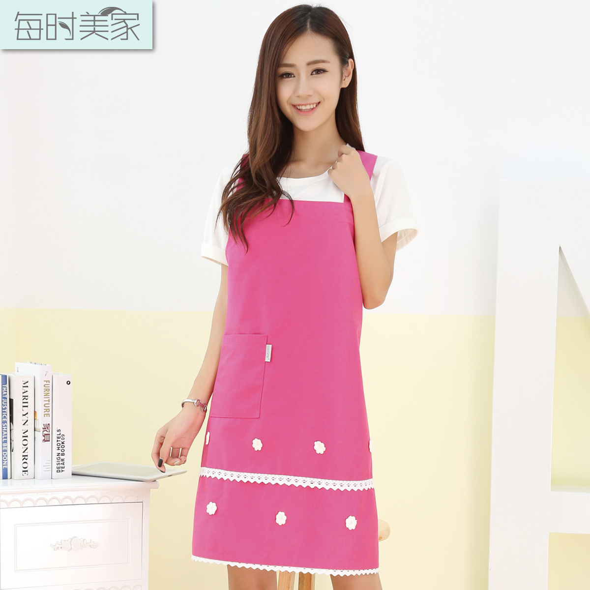 Every time the us house korean fashion home kitchen apron cafe tea shop work clothes beauty shop apron