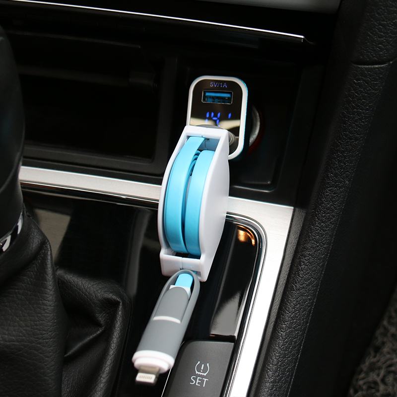 Excellence star car monitor battery voltage dual usb car charger multifunction car charger cigarette lighter one for two Is