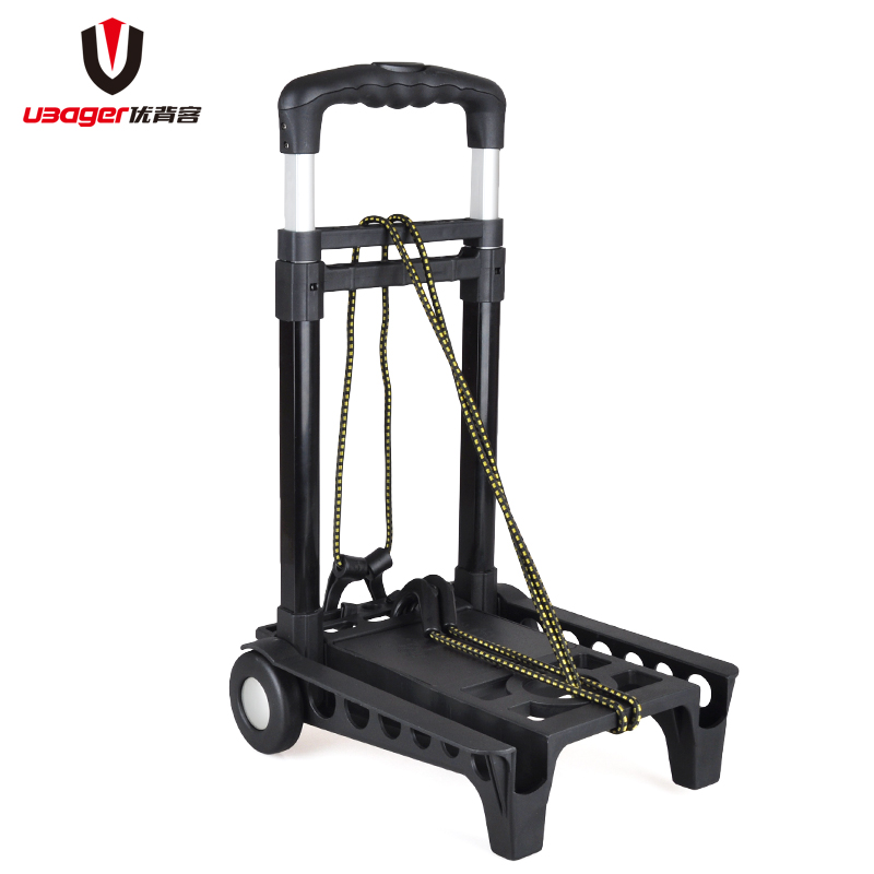 Excellent back off multifunction portable luggage cart folding hand cart shopping cart pull cargo holder pushcart Load king