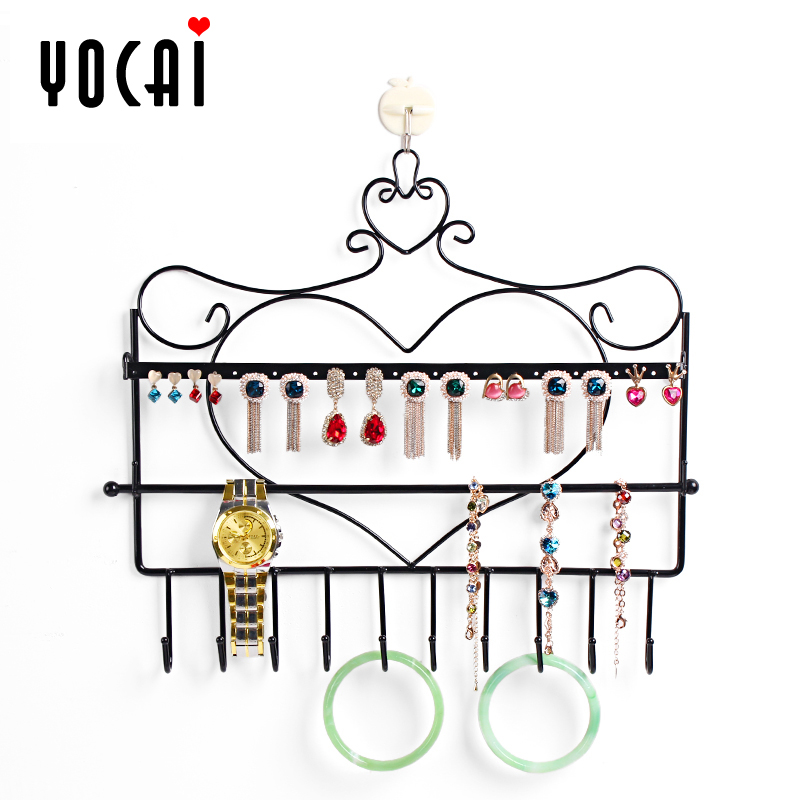 Excellent color hanging on the wall iron earring holder jewelry holder necklace jewelry holder jewelry rack bracelet jewelry rack shelf storage rack