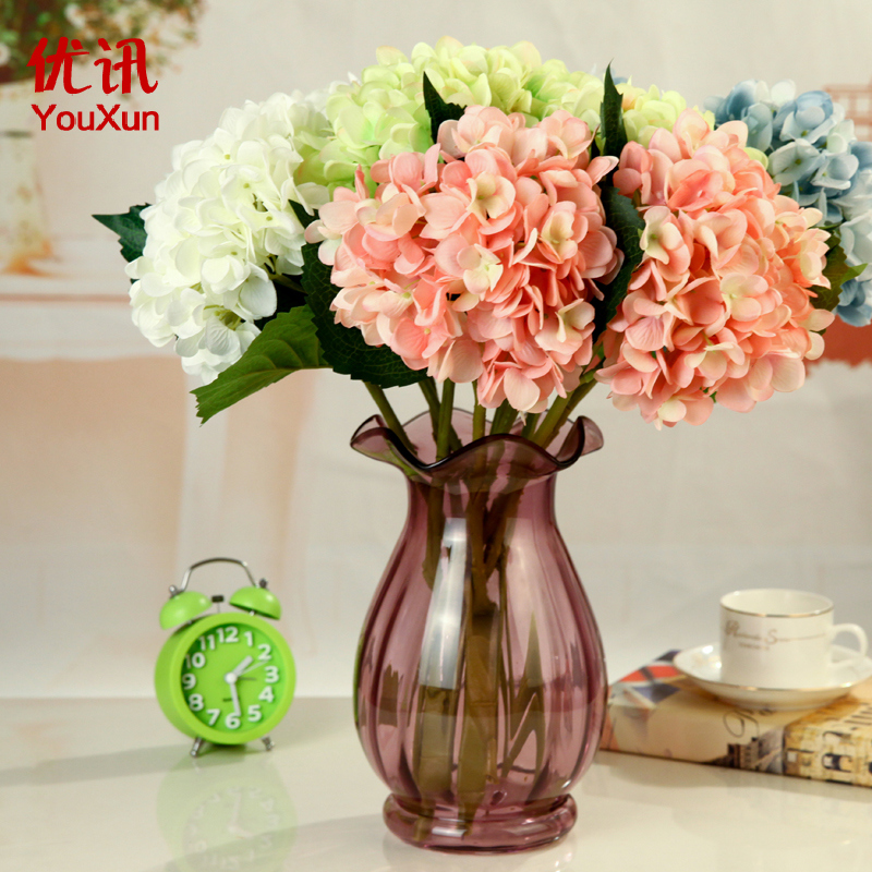 Excellent news 、 fashion simulation hydrangea flowers artificial flowers decorate the wedding flowers artificial flowers floral home
