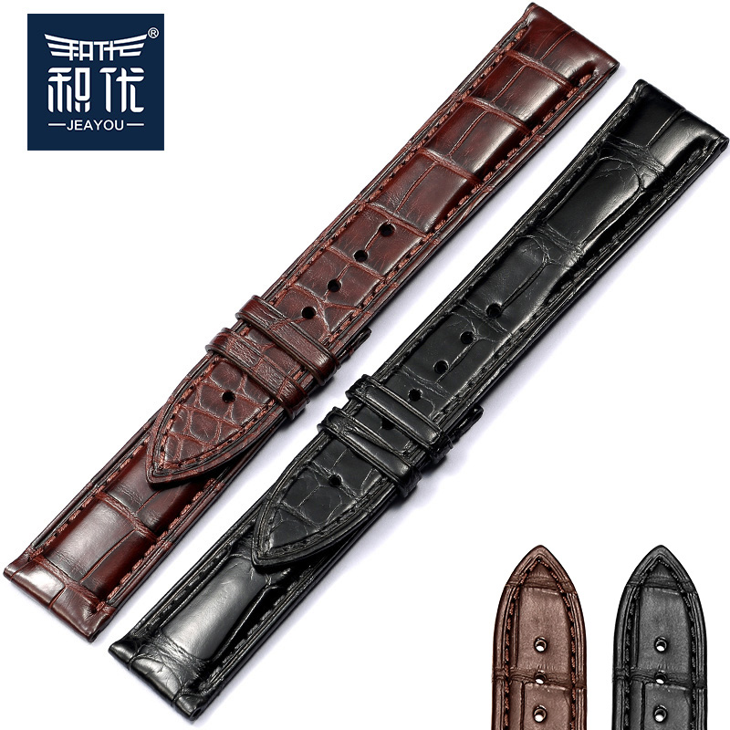 Excellent product replacement leather strap men and women sided alligator breguet iwc jaeger lecoultre omega patek philippe