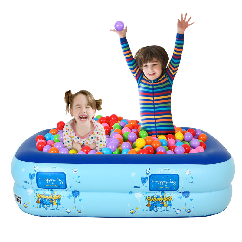Excellent sensitive infants and children square inflatable swimming pool toys children playing in the water baby wave ocean ball pool fishing pond