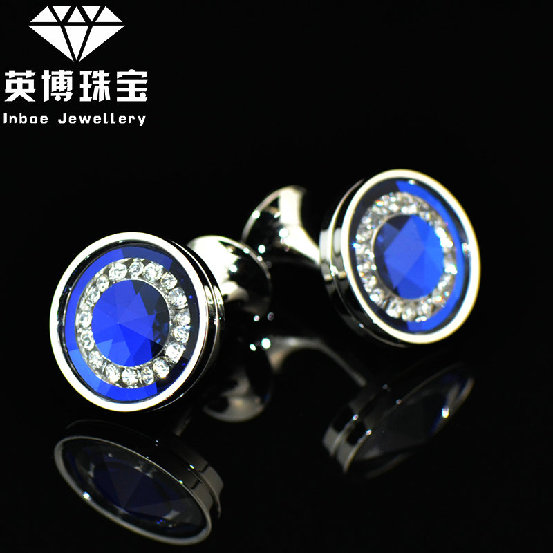 Experience price! inbev cufflinks boutique blue crystal cufflinks men's cufflinks french shirt cufflinks