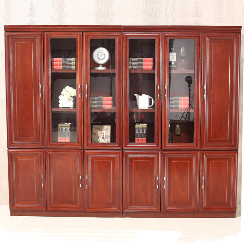 Explosion models of hong kong yue furniture file cabinet high cabinet paint paste wood skin minimalist glass door bookcase can be customized