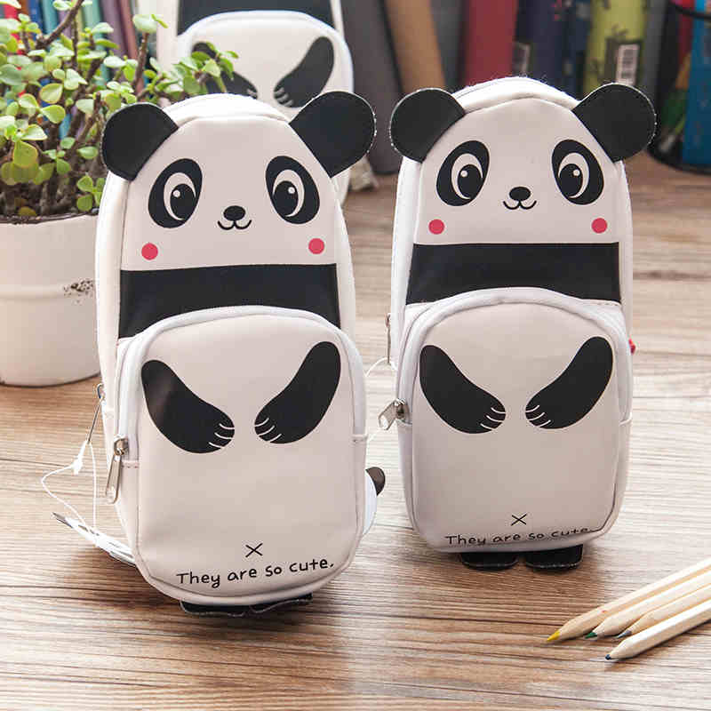 Extensive creative cute panda cortex large capacity pencil student pencil female pencil box multifunctional student HBD02300